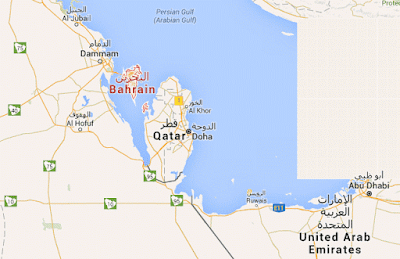 Bahrain map picture
