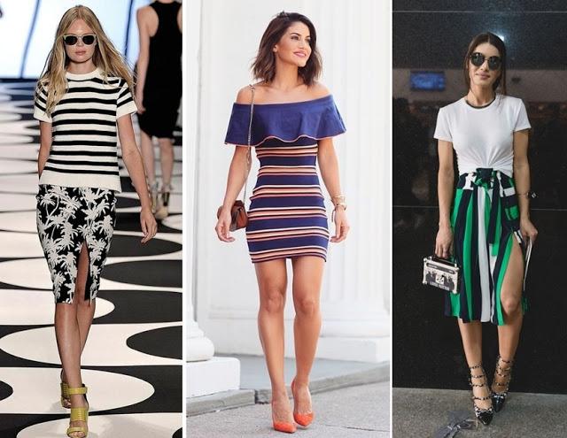 Tendência de moda primavera verão 2018 - listras