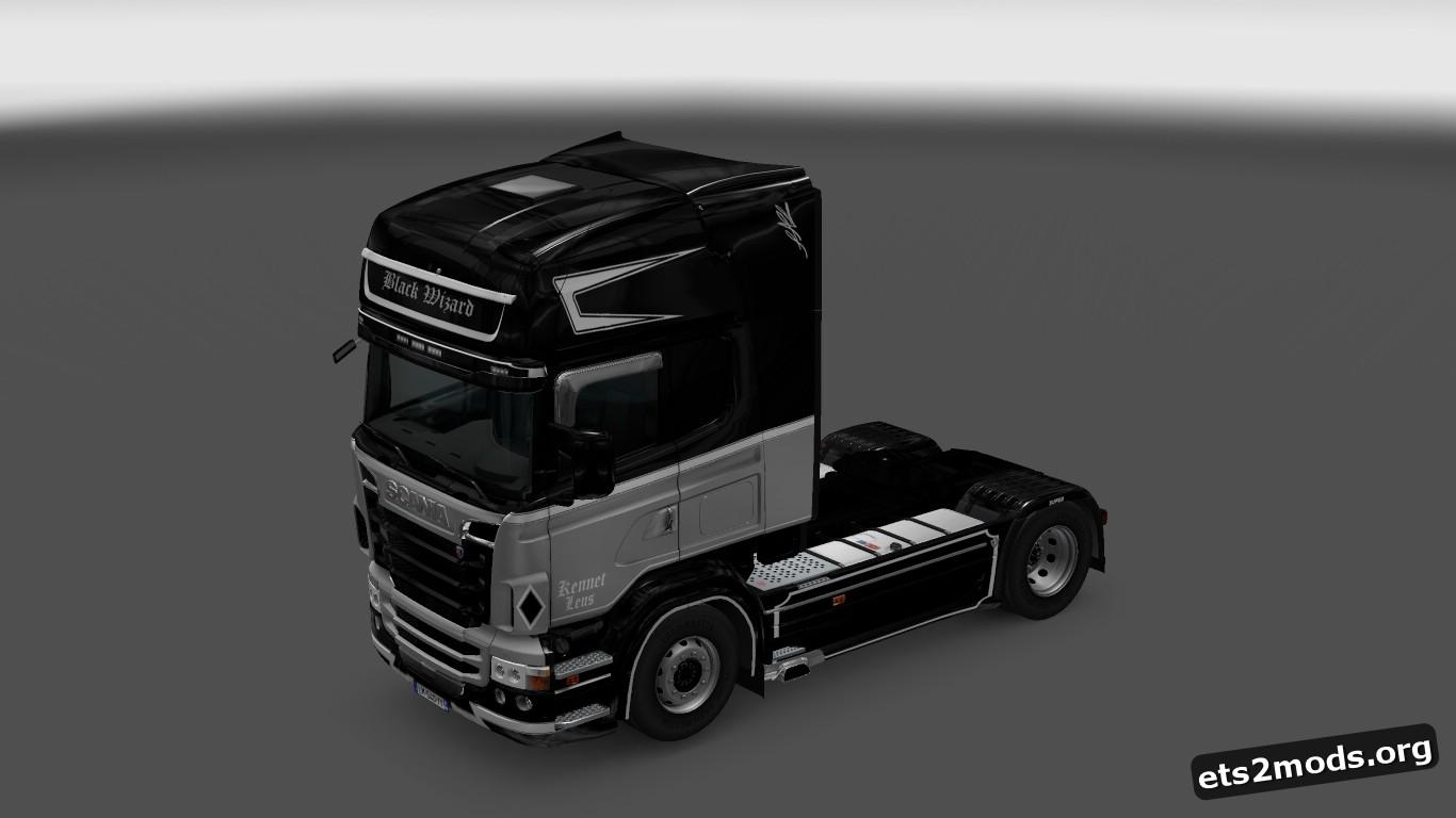 Black Wizard Skin for Scania RJL