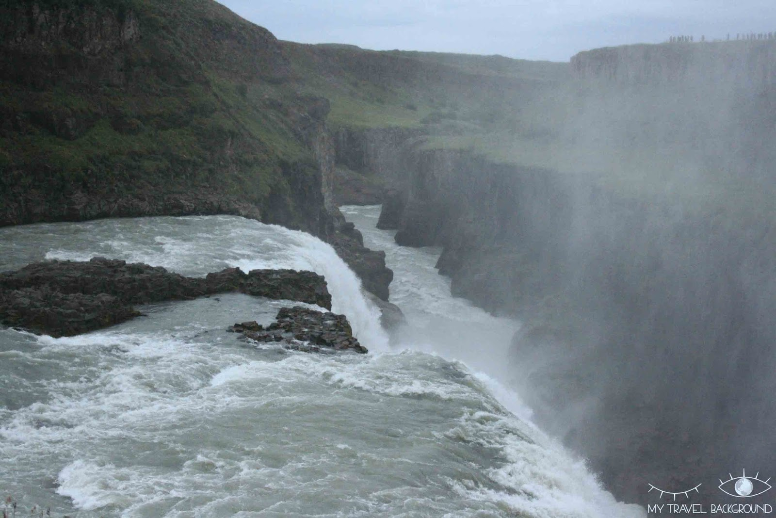 My Travel Background : visite du Cercle d'Or en Islande - Cascade de Gullfoss