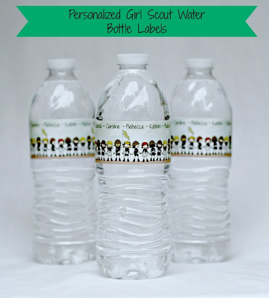 Personalized Girl Scout Water Bottles