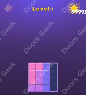 Cheats, Solutions, Walkthrough for Move Blocks Easy Level 1