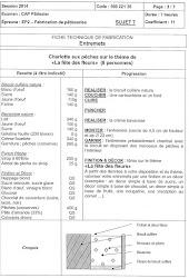 CAP Pâtissier En Candidat Libre Les Fiches Techniques De - Recette cap cuisine
