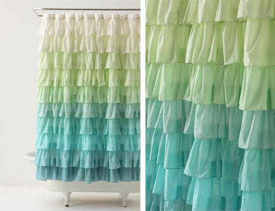 anthropologie flamenco aqua shower curtain