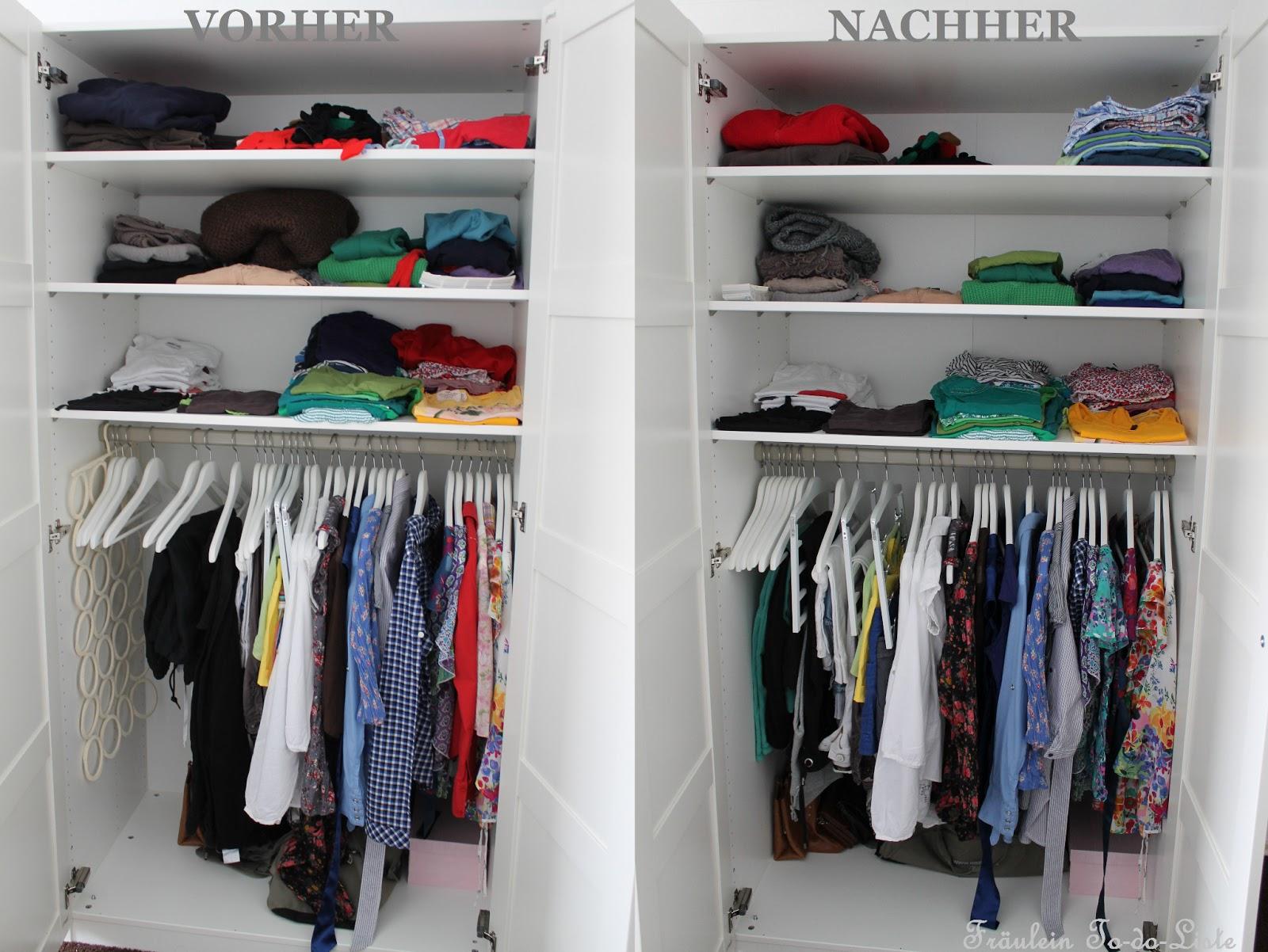 fr ulein to do liste how to organize your life fr hjahrsputz im kleiderschrank. Black Bedroom Furniture Sets. Home Design Ideas