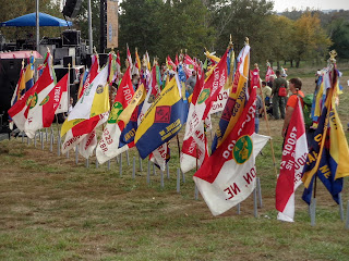 troop flags at Boy Scouts Mid America Jubilee 2016