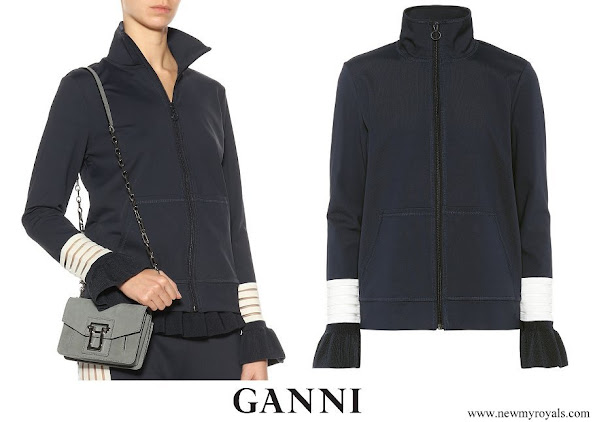 Queen Rania wore Ganni Presbourg jersey jacket