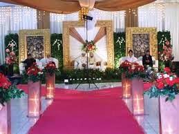 dekorasi pernikahan di gedung