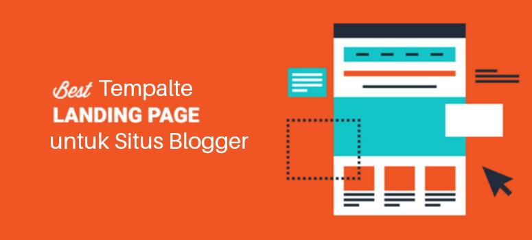Template landing page untuk situs blogger