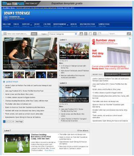 Johny Storage Blue Blogger Template Gratis Free Download