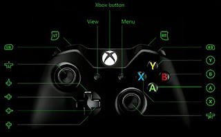 Image of a black Xbox One controller with partial remapping.