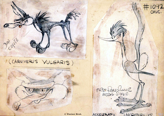 Wile E. Coyote and The Road Runner, sketch 1945