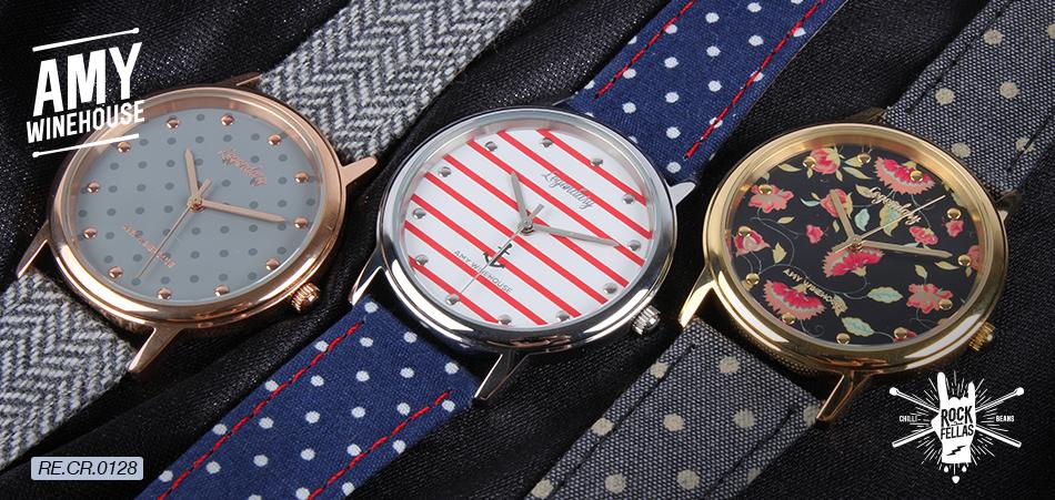 0903feebc Relógio inspirado no estilo pin-up de Amy Winehouse