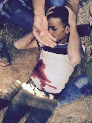 استشهاد فادي ابراهيم النجار خلال مواجهات شرق خان يونس