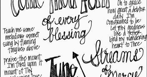 Look to Him and be Radiant: Come Thou Font Coloring Page
