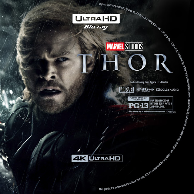 Thor 4K Bluray Label