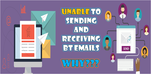 unable to send and receive bt mail