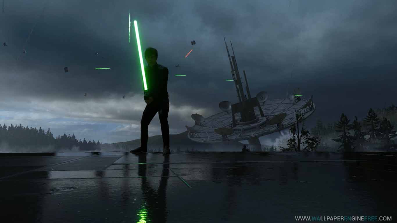 Download Star Wars Luke Skywalker Endor Rain 1080p 60fps Wallpaper