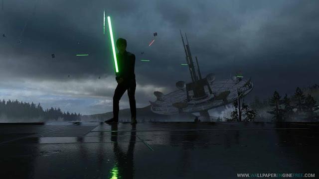 Star Wars Luke Skywalker Endor Rain (1080P-60FPS) Wallpaper Engine