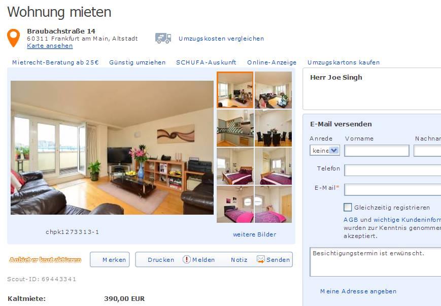 alias herr joe singh 2 zimmer wohnung zu. Black Bedroom Furniture Sets. Home Design Ideas