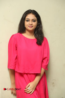 Actress Arundathi Nair Stills in Red Chididar at Bethaludu Success Meet  0067.JPG