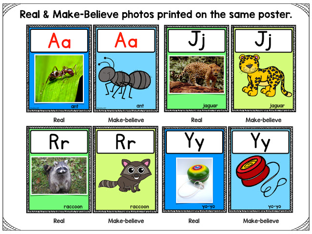 https://www.teacherspayteachers.com/Product/Alphabet-Letter-Posters-Real-and-Make-Believe-3271388