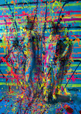 flesh and acrylic art