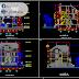 مخطط مشروع منزل triplex اوتوكاد dwg
