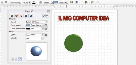 Come scrivere testi tridimensionali in libreoffice