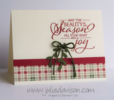 Clean & Simple Merry Christmas to All Card ~ Stampin' Up! 2018 Holiday Catalog ~ Christmas ~ www.juliedavison.com