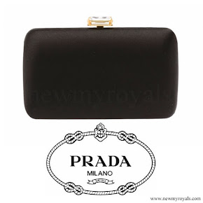 Kate Middleton carried PRADA Satin Clutch