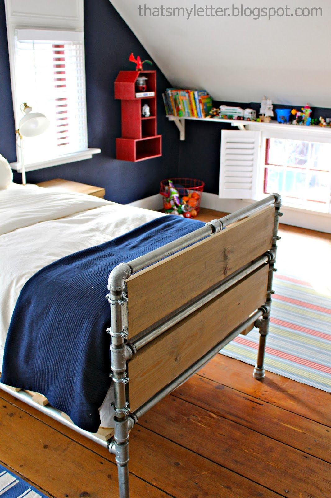diy pipe bed boys bedroom