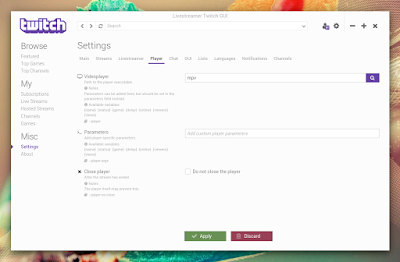Livestreamer Twitch GUI