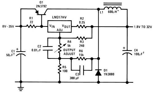 LM317 based SMPS power supply circuit