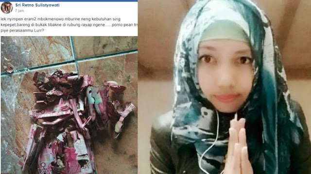 Wanita ini Nabung di Celengan Bambu, Saat Dibuka ia Shock Karena Uangnya Jadi Begini