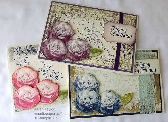 Stampin' Up! Timeless Textures and Picture Perfect roses