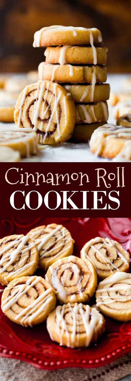 Little cinnamon roll cookies made from sugar cookie dough ...