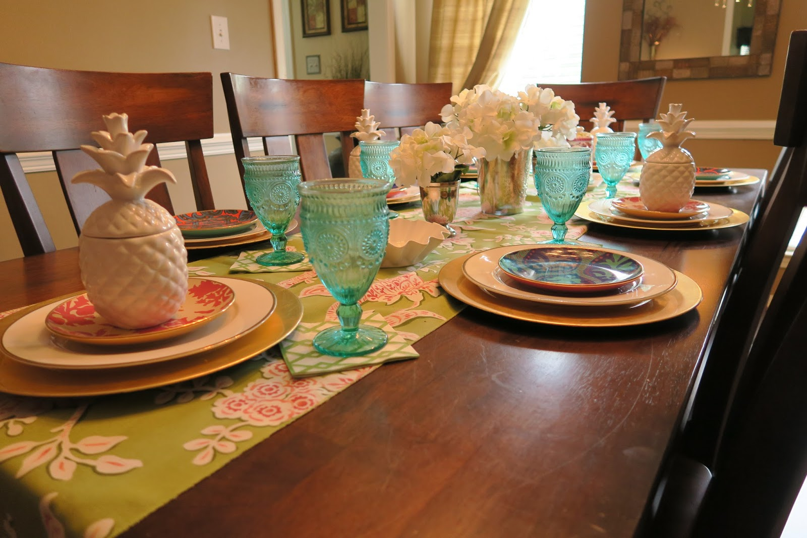 Summer Dining Room Table Tour || Mother\'s Day | Mrs. Erica
