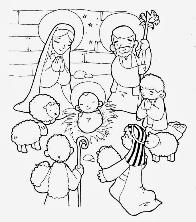 La Catequesis (El blog de Sandra): Colorea la escena de los pastores ...