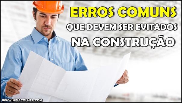 erros comuns na construção