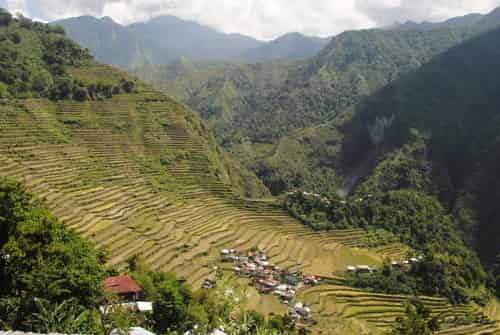 First Glimpse of Batad Rice Terraces