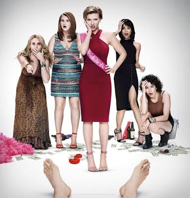 Scarlett Johansson, Zoe Kravitz e Kate Mckinnon ilustram 7 novos pôsteres de a noite é delas