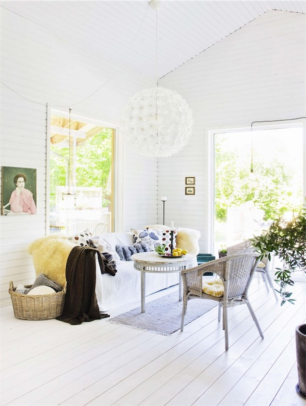 salon estilo nordico en blanco chicanddeco