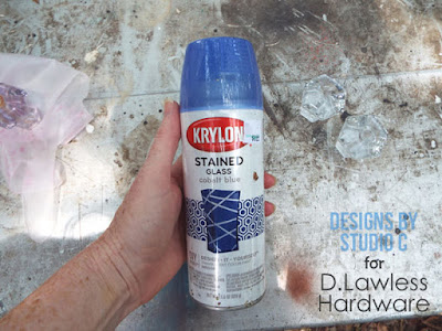 Krylon is perfect for spray painting glass knobs - D. Lawless Hardware