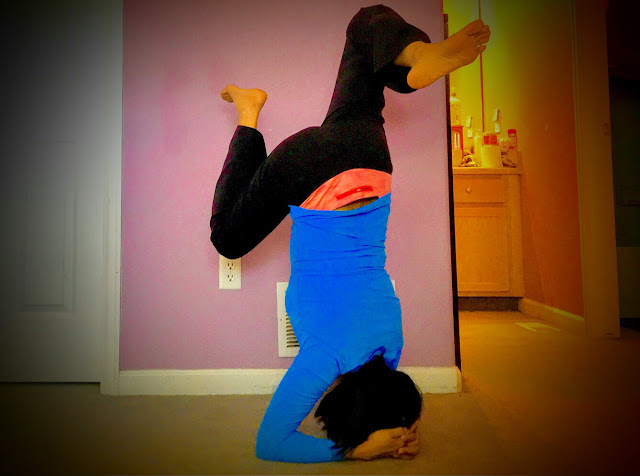 beginner headstand, yoga
