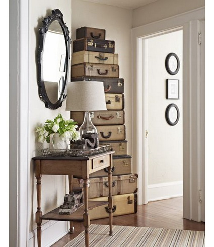 Great And Creative Ideas For Decorating With Old Suitcases 4