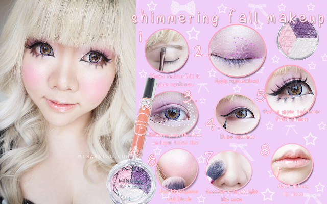 gyaru makeup tutorial canmake shimmering fall