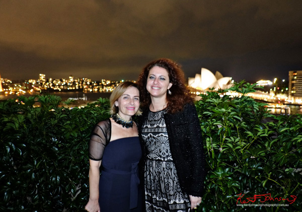 Rooftop night portrait from the MCA with the Sydney Opera House in the background, Connect Italy 2017, Sydney, Australia. Street Fashion Sydney by Kent Johnson.