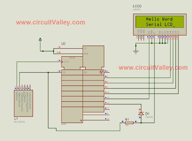 16x2 Serial LCD  (Two Wire) with PIC12F675 15