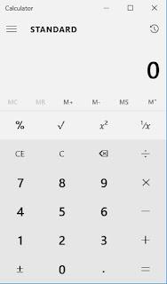 Calculator GUI in Windows 10